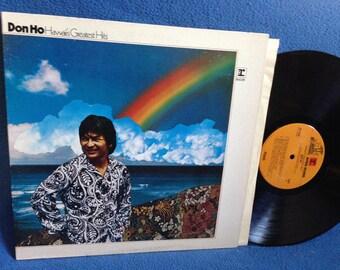 "Vintage, Don Ho - ""Hawaii's Greatest Hits"", Vinyl LP, Record Album, Tiki Party Music, Aloha Oe, Blue Hawaii, Beyond The Rainbow"