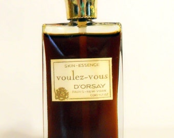 Vintage 1960s Voulez Vous by D'Orsay 0.50 oz Skin Essence PERFUME