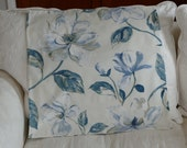 "26"" x 26"" pillow cover in indigo blue floral"
