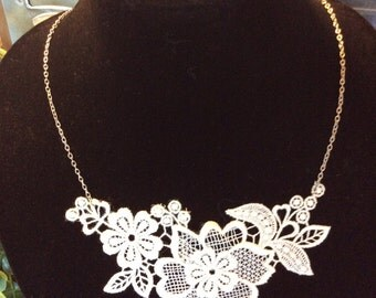Intricate lace necklace