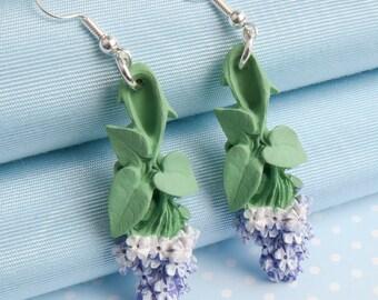 Lilac Dropper Earring