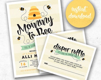 Mommy to Bee: Matching Diaper Raffle Insert