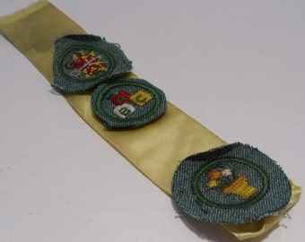 Three Vintage 1930's to 1940's Girl Scout Intermediate Badges