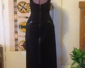 Black Denim body conscious long dress size small