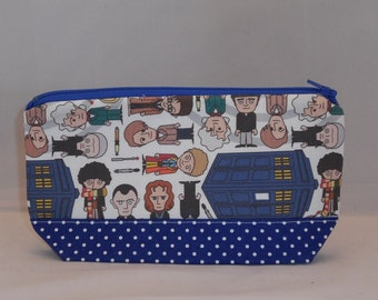Zipper Pouch Made With Dr. Who Inspired Fabric