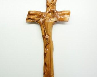 Wooden cross - wall hanging - decor