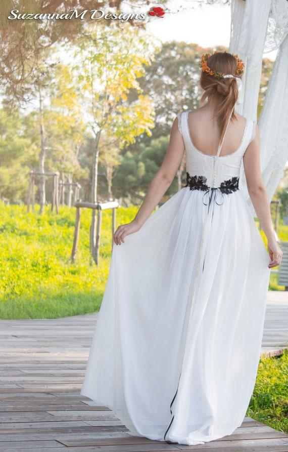 Bohemian Wedding Dress, Boho Bridal Gown, Gypsy Long Bridal Dress, Ivory Wedding Dress, Kep Sleeves Gown, Handmade Gown, SuzannaM Designs