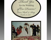Wedding Parents Thank you for the Wedding of Our Dreams Personalized Gift Mother Father Bride Groom