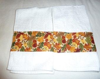 Autumn Leaves Decorative Hand Towels (Set of 2)