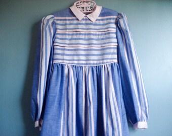 Striped girls dress - size 5