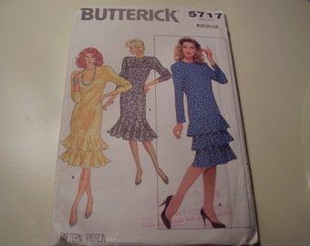 Vintage Butterick 5117 Dress Sewing Pattern, Size 12-14-16, Bust 34-36-38