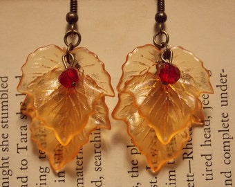 Autumn Maple Leaf Earrings