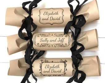 Framed Monogram Wedding Party Cracker