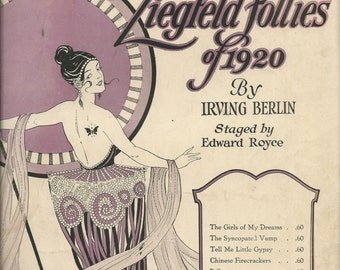 Vintage 1920 Tell Me Little Gypsy Ziegfeld Follies of 1920 Sheet Music