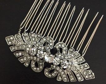 Art deco hair comb -Vintage style hair comb - Wedding hair comb - Bridal Hair Accessories - wedding headpiece
