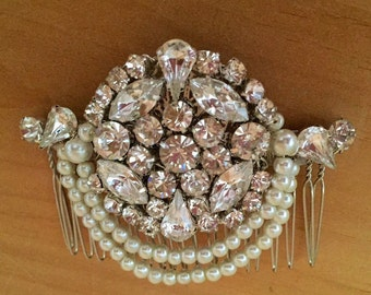 1920s headpiece -Art deco hair comb -Vintage style hair comb - Wedding hair comb - Bridal Hair Accessories - wedding headpiece