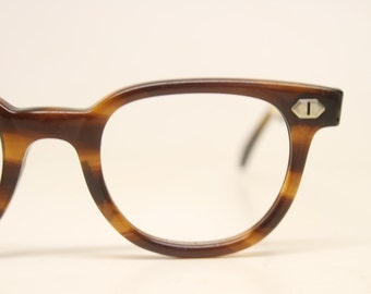 NOS Tortoise Vintage Eyeglasses 1960s Men Retro Glasses Frames Horn Rimmed Glasses New Old Stock Vintage Eyewear