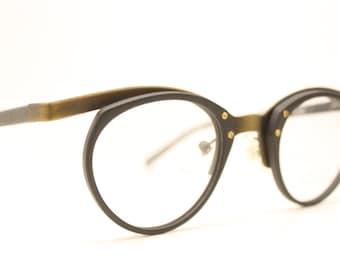 Vintage Black Bronze Glasses Frames Unique 1980s Retro Eyeglass Frames