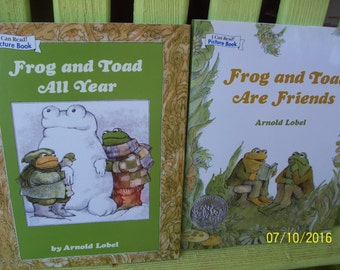 Frog and Toad All Year and Frog and Toad Are Friends by Arnold Lobel