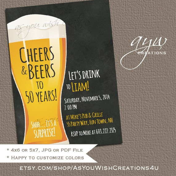 40th birthday party invites man printable cheers and beers birthday il570xn filmwisefo