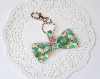 NEW- Fabric Bow Keychain in Liberty Fabric