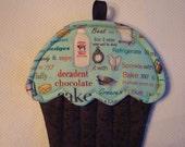 Recipe Print Cupcake Potholder