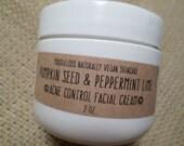 VEGAN-Pumpkin Seed & Peppermint Lime Acne Control Facial Cream( hydrating, anti-bacterial, vitamins, anti-wrinkle)2oz.