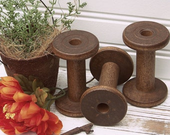 SPECIAL---Vintage Wooden Spool, Craft Organization, Crafts Spool, Sewing Spool, Trim/Ribbon Spool, Spools, Antique Spools