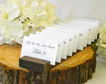 Place Card Holder + SET OF 10 + Postcard Holder + Business Card Holder + Plank - 11 inches long x 2.5 inch wide