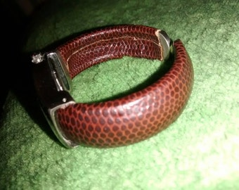 Cannes Brown Snakeskin Cuff Ladies Watch