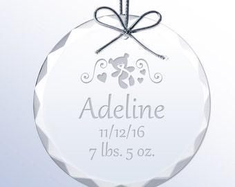 Birth Record Crystal Baby Ornament