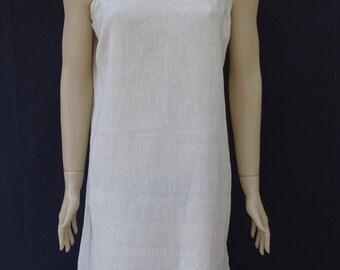 Women's strapped  linen and cotton mixed soft light weight summer tunic, summer dress, summer nightie, beach dress.