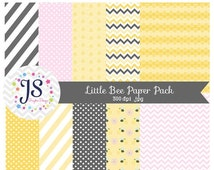 80% OFF - INSTANT DOWNLOAD - Little Bee Digital Paper Pack for Personal and Commercial use