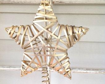 Gold Metallic Small Tree Topper - Christmas Tree Decoration