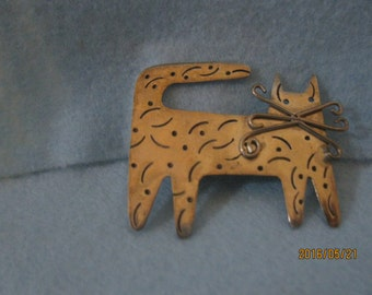 Stering Silver Cat Pin