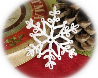 Crochet snowflake ornament Winter decoration White crochet snowflakes Handmade ornaments Festive snowflakes S16