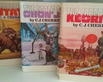 The Faded Sun Trilogy by CJ Cherryh Book Club edition