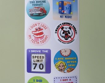 Retired Edition! 8 Adult Reward Stickers You Adulted Today Congratulations adult humor snarky sarcastic decals sticker decal funny cute