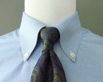 RARE Vintage SULKA New York, London, Paris All Silk Dark Geometric Medallion Tapestry Pattern Trad / Ivy League Neck Tie.