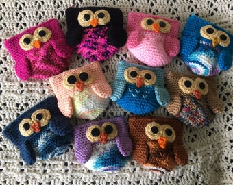 Crocheted Owl Coin Purse