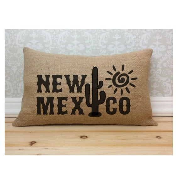 Modern Southwest Pillow : New Mexico Pillow Southwest Pillow Cactus by henhouseoriginals