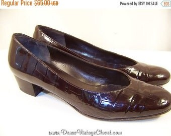 50% OFF Labor Day Sale Vintage Brown Salvatore Ferragamo Boutique Shoes Pumps sz 7B