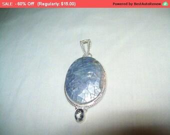 SALE 60% Off Vintage gemstone pendant, unique fashion pendant