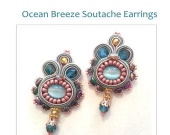 Ocean Breeze Soutache earrings- tutorial