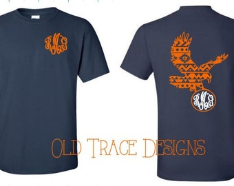 Youth Aztec Eagle Monogram Shirt Available in Long or Short Sleeve