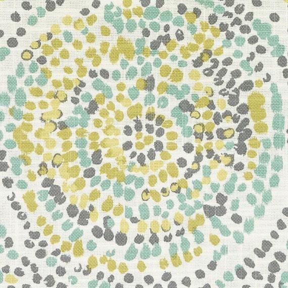 Yellow Grey Upholstery Fabric Modern Light Green Splatter