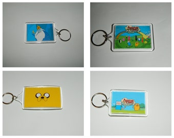 Adventure time  keychain  Ice King Jake Finn Choice of Images