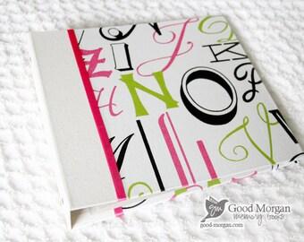 5 Year Baby Memory Book  - Girls Alphabet