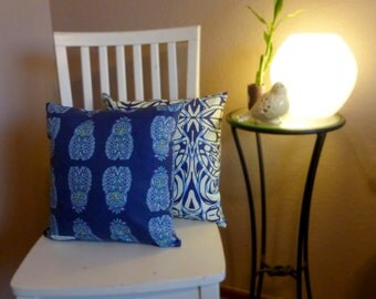 Midnight Owl/Out of the Blue Set of Accent Pillows