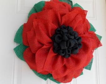 Christmas wreath -  Poinsettia wreath